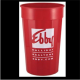 Fluted wholesale custom printed 32 oz. plastic Stadium Cup! Discount affordable promotional product for Sport events, Schools, Churches, Corporate parties, Street Festivals, Restaurants, Bars and more! Lids sold seperately. FL32278