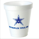 Personalized 6 oz ounce Styrofoam foam cups printed with your Restaurant or Business name text & logo .  We can print any custom layout on these 6 oz promotional styrofoam cups & lids for great Branding with togo & takeout orders . PERS43