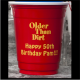 Custom 12oz Red Solo Brand cups are custom printed 12oz cups with your info! These custom red Solo Brand are great as custom frat party cups & custom red wedding cups too! Great Wedding reception ideas with custom red plastic cups. REDJ42